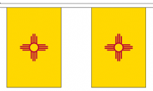 NEW MEXICO (U.S. STATE) BUNTING - 3 METRES 10 FLAGS